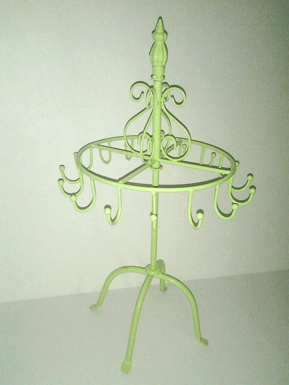 Lime Green Paris Wrought Iron Jewelry Display, Craft Show Display ...